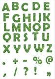 Alfabeto verde Fotografia de Stock Royalty Free
