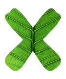 Alfabeto verde de la textura de la hoja Imágenes de archivo libres de regalías
