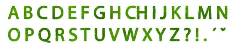 Alfabeto verde del eco Foto de archivo