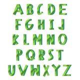 Alfabeto verde del eco Fotos de archivo