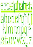 Alfabeto verde/EPS de la hoja de la ecología