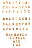 Alfabeto Wuzzy sfocato stabilito A - Z illustrazione di stock