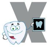 Alfabeto-x engraçado dos desenhos animados Imagens de Stock Royalty Free