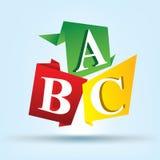 Alfabeto A y B y C Fotos de archivo libres de regalías