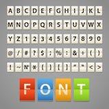 Alfabeto y dígitos Fotografía de archivo libre de regalías