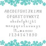 Alfabeto y número lindos Fotografía de archivo