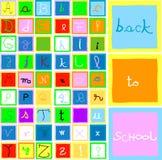 Alfabeto y números libre illustration