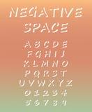 Alfabeto y números con el fondo borroso Imagenes de archivo