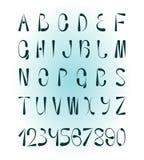Alfabeto y números creativos Fotografía de archivo