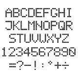Alfabeto del pixel Fotos de archivo libres de regalías