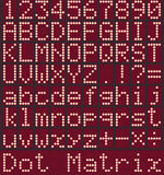Alfabeto y números, ningunas pendientes de Digitaces Fotografía de archivo