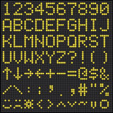 Alfabeto y números del marcador de Digitaces Fotografía de archivo libre de regalías