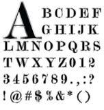Alfabeto y sistema negros del borde de la plata Fotografía de archivo libre de regalías