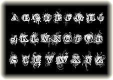 Alfabetos artísticos Foto de archivo