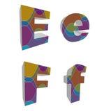 alfabetos cobardes retros 3D Foto de archivo libre de regalías