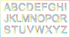 Alfabetos coloridos Foto de archivo libre de regalías