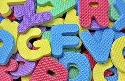 Alfabetos de goma Imágenes de archivo libres de regalías