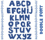 Alfabetos de la escritura Vector drenado mano Imagen de archivo libre de regalías