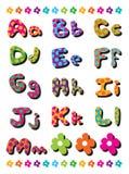 Alfabetos de los puntos de polca de A a de M Imagen de archivo libre de regalías