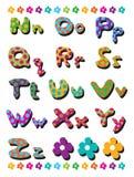 Alfabetos de los puntos de polca de N a de Z Imagen de archivo libre de regalías