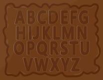 Alfabetos do chocolate ilustração stock
