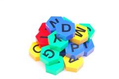 Alfabetos do Jumble fotografia de stock