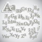 Alfabetos fora rasgados foto de stock royalty free
