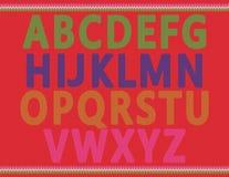 Alfabetos hechos punto Fotografía de archivo