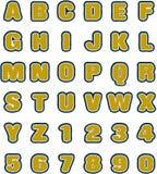 Alfabetos lisos marrones claros de Needled fijados ilustración del vector