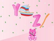 Alfabetos para los niños YZ Imágenes de archivo libres de regalías