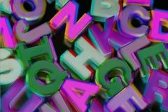 Alfabetos plásticos Fotos de Stock Royalty Free