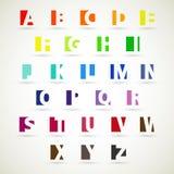 Alfabetreeks stock illustratie