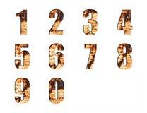 Alfabetsamlingsuppsättning på Grungy rostad ståltextur Arkivbilder