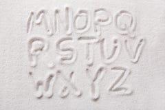 alfabetsand Fotografering för Bildbyråer