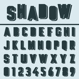 Alfabetstilsortsmall royaltyfri illustrationer
