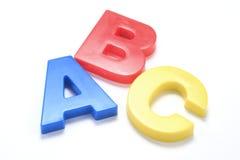 Alfabetten ABC stock foto