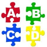 Alfabetten puzzels Royalty-vrije Stock Foto