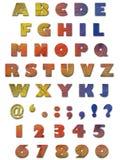 alfabettexturvägg Royaltyfri Foto