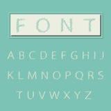 Alfabettype doopvont, uitstekende typografie Stock Afbeelding