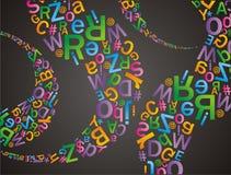 Alfabetu wzór Zdjęcia Royalty Free