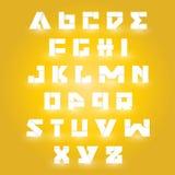 Alfabetuppsättning Arkivfoto