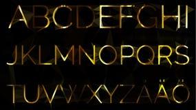 Alfabetuppsättning med skandinaviska bokstäver Stock Illustrationer