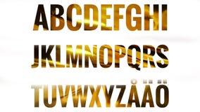 Alfabetuppsättning med skandinaviska bokstäver Royaltyfri Illustrationer