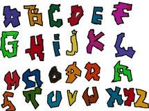 Alfabetuppsättningbokstäver Arkivbilder