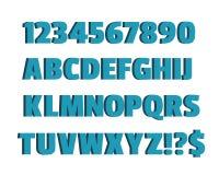 Alfabetvektorillustration på vit bakgrund Arkivfoto