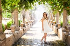 Alfabia gardens in Mallorca stock photography