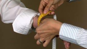 Alfaiate Wrist Body Measuring vídeos de arquivo