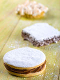 Alfajor cookie, a typical Peruvian dessert Royalty Free Stock Images