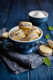 Alfajore cookies filled with caramelized milk and coconut royalty free stock photo