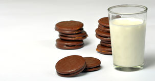 alfajores and milk Royalty Free Stock Photography